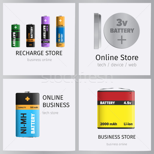 Recharge Online Business Store Elements Banner Set Stock photo © robuart