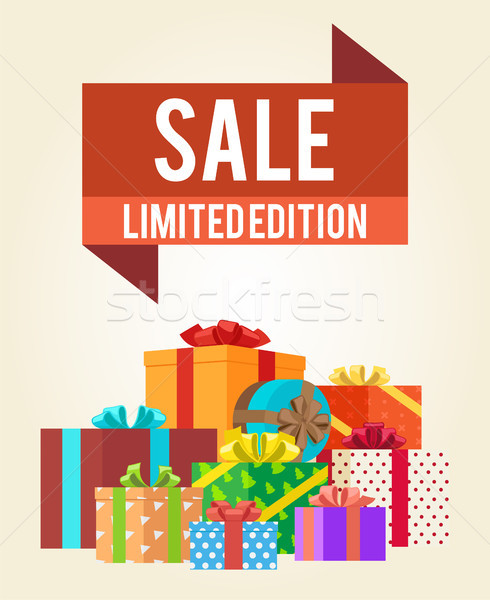 Sale Limited Edition Shop Now Poster Advert Label Stock photo © robuart
