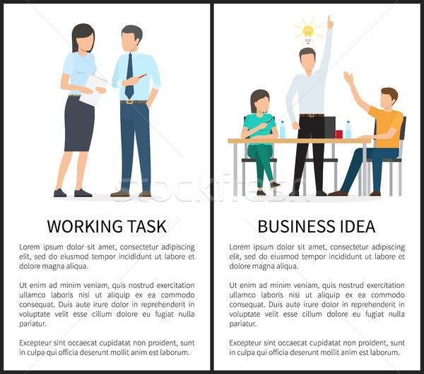 Dolgozik feladat üzlet ötlet szöveg főcím Stock fotó © robuart