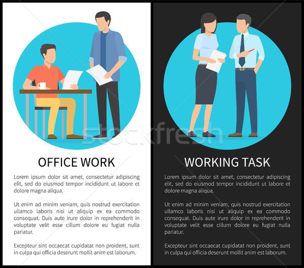 Lavoro d'ufficio lavoro compito uomo donna Foto d'archivio © robuart