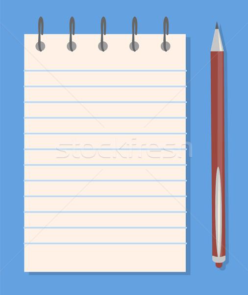 Notatnika farbują szablony kolorowy banner pióro Zdjęcia stock © robuart