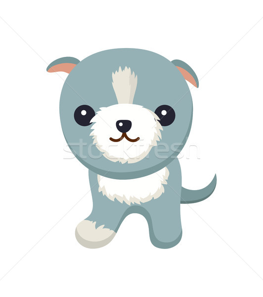 Dog with Short Ears Poster Vector Illustration Stock photo © robuart