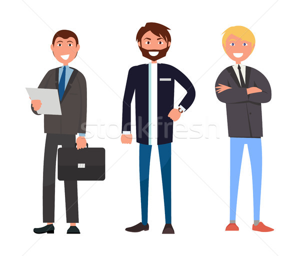 Set of Male Characters in Formal Wear, three Men Stock photo © robuart