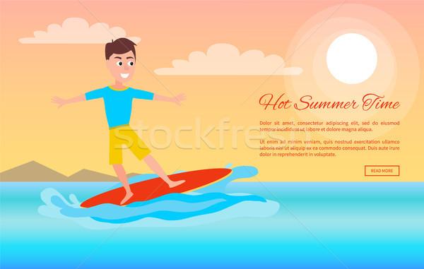 горячей лет время серфинга спорт деятельность Сток-фото © robuart