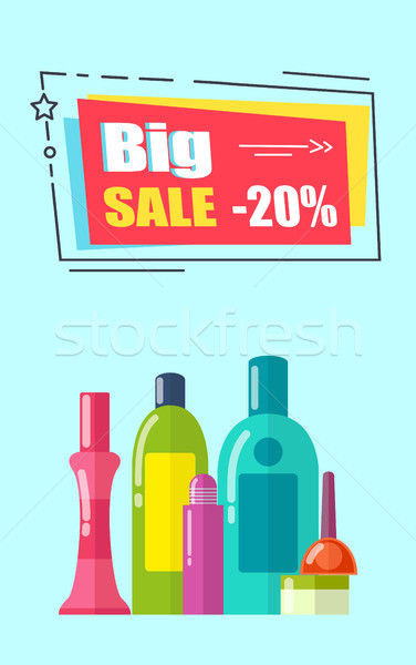 Big Sale -20 Poster, Headline Vector Illustration Stock photo © robuart