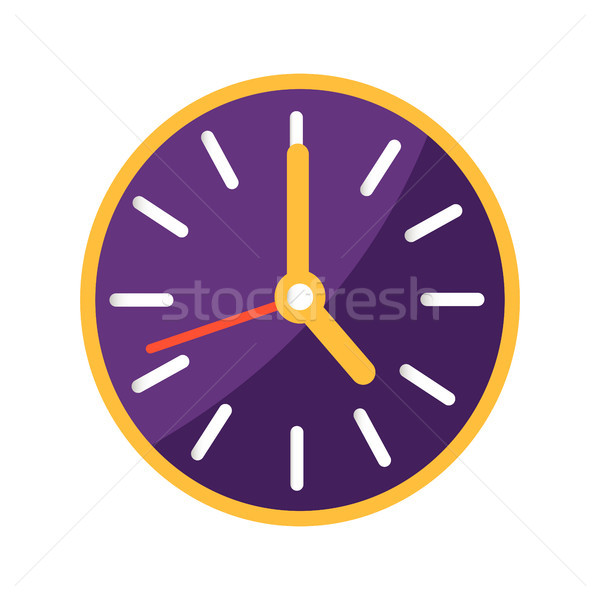 Wall Clock with Big and Small Arrows on Clockface Stock photo © robuart