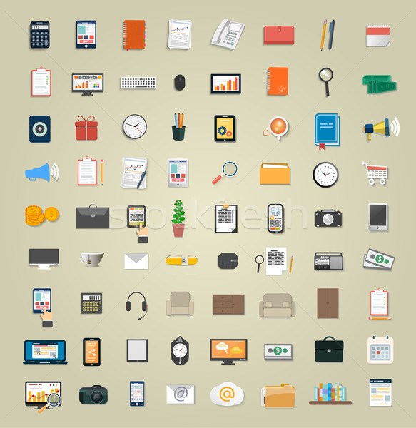 Stock photo: Set of various financial service items