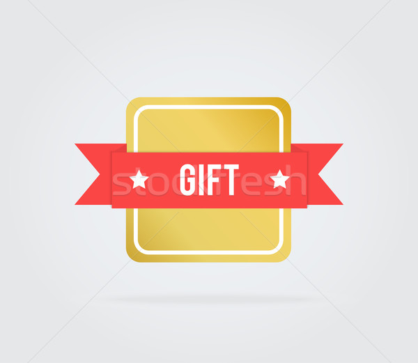 Gift card tag tekst achtergrond winkel Stockfoto © robuart