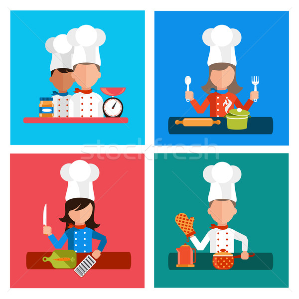 Cooking serve meals and food preparation elements  Stock photo © robuart