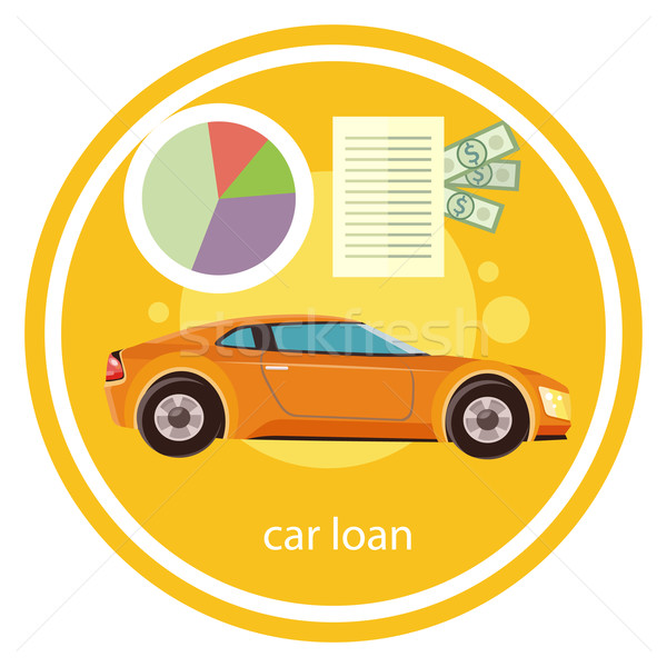Auto prestito approvato documento dollari soldi Foto d'archivio © robuart