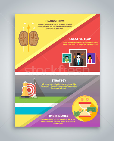 Infographic Business Brochure Banner Stock photo © robuart