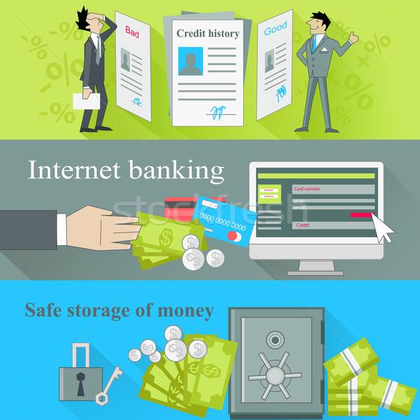 Internet banking sicuro stoccaggio soldi credito Foto d'archivio © robuart