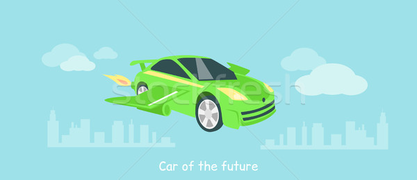 Car of Future Icon Flat Isolated Stock photo © robuart