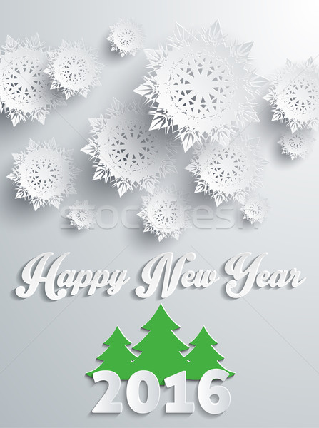 Happy New Year 2016 Banner with Tree Stock photo © robuart