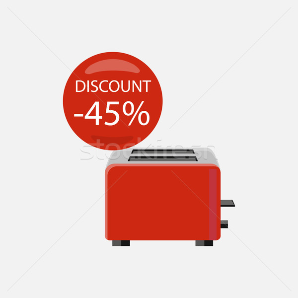 Sale of Household Appliances Toaster Stock photo © robuart