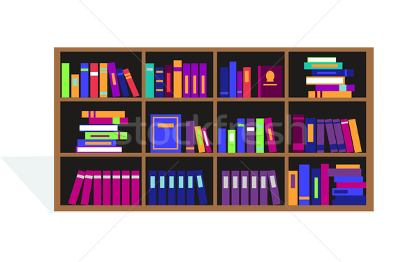 Large Bookcase with Different Books Stock photo © robuart