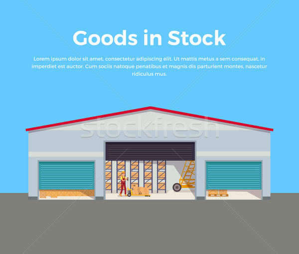 Goods in Stock Banner Design Flat Stock photo © robuart