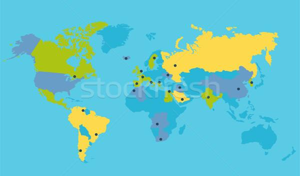 World Political Map Vector Illustration Stock photo © robuart