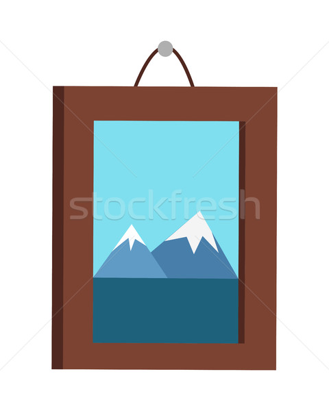 Picture in Frame Hanging on the Wall Stock photo © robuart