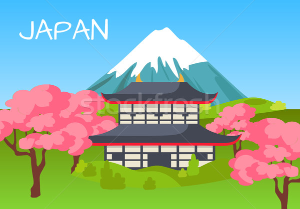 Japan Touristic Concept with National Symbols Stock photo © robuart
