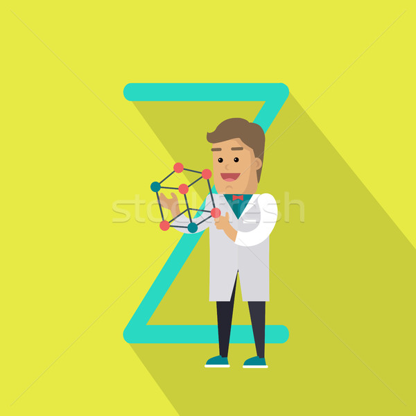 Science Alphabet Concept In Flat Design Stock photo © robuart
