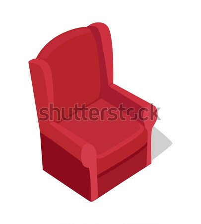 Red Armchair Illustration in Isometric Projection Stock photo © robuart