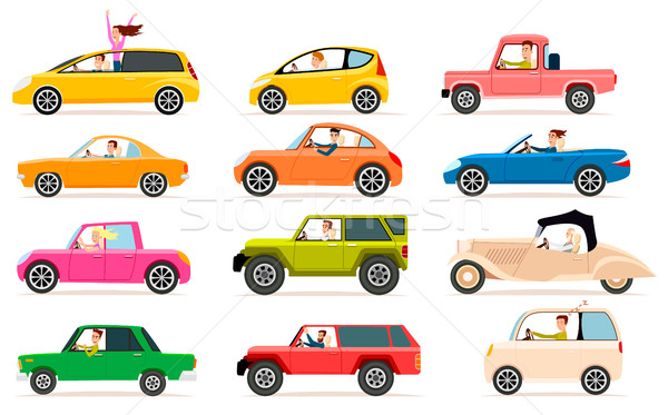 Collection of Different Types of Automobile Cabine Stock photo © robuart
