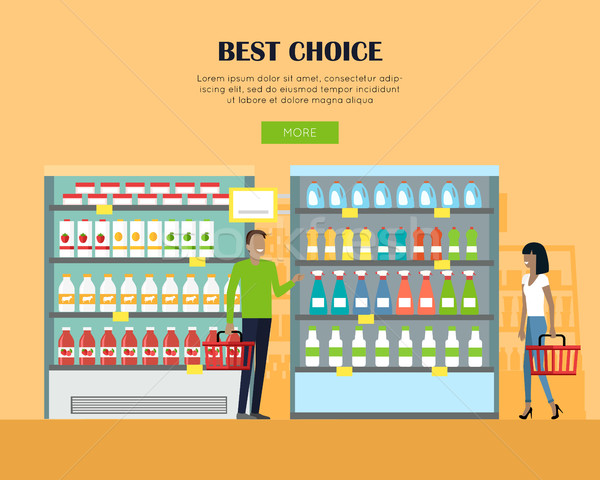 Best Choice Concept Banner in Flat Design.  Stock photo © robuart