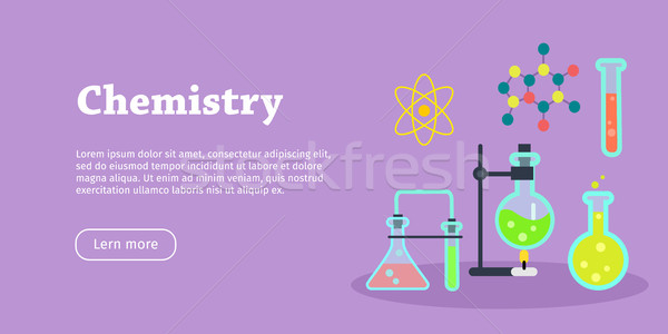 Chemistry Science Banner. Chemical Preparations Stock photo © robuart