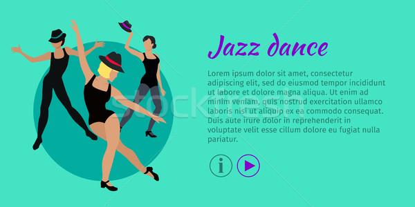 Jazz Dance Conceptual Flat Style Vector Web Banner Stock photo © robuart