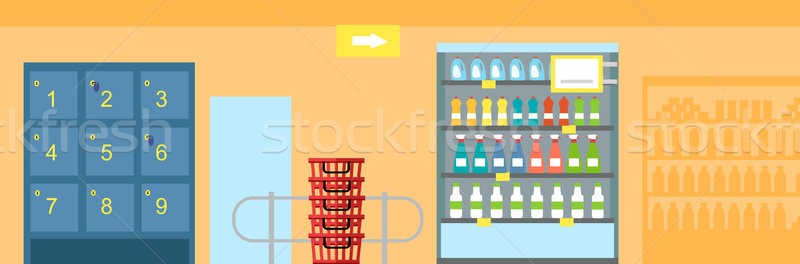 Supermarket Interior Design Stock photo © robuart