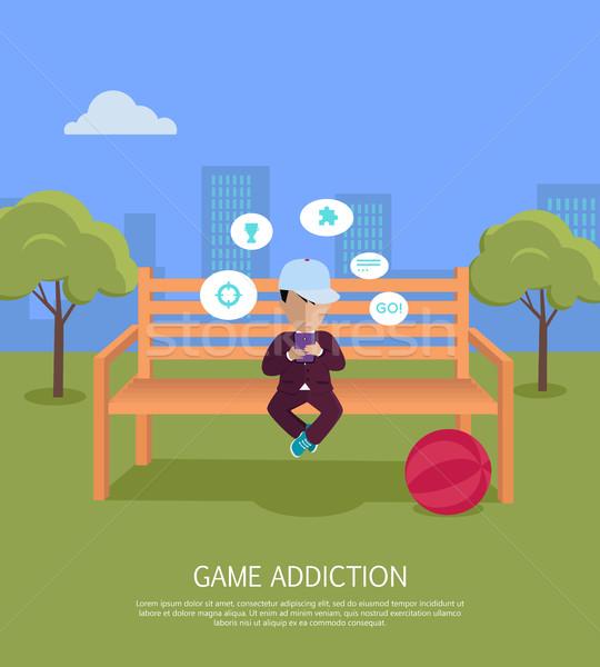 Game Addiction Banner Stock photo © robuart