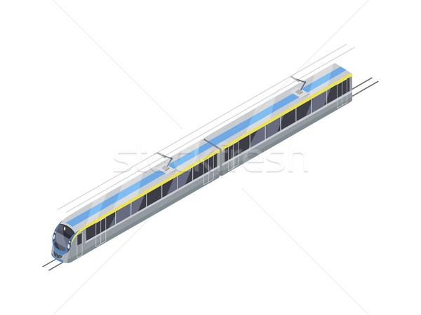 速度 列車 ベクトルのアイコン アイソメトリック 投影 アイコン ストックフォト © robuart