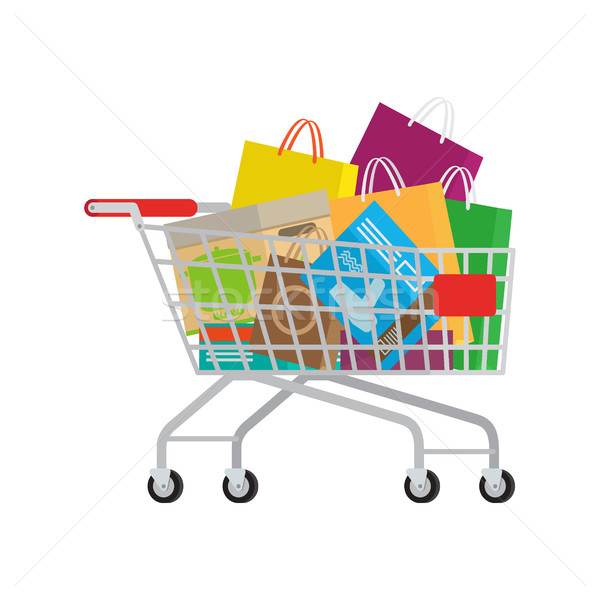 Full Shopping Trolley with Different Purchases Stock photo © robuart