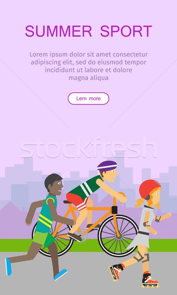 Summer Sport Banner Stock photo © robuart