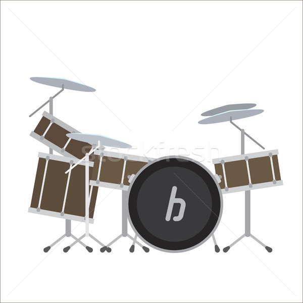 Electronic Drum System Vector Illustration. Stock photo © robuart