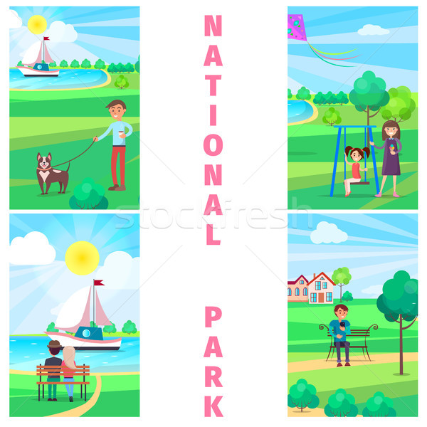 National Park in Summer with Relaxing People. Stock photo © robuart