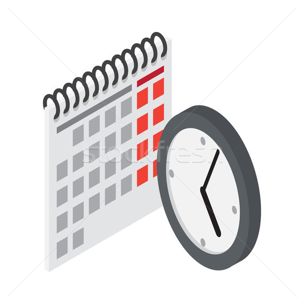 Calendario pared reloj estilo iconos vector Foto stock © robuart
