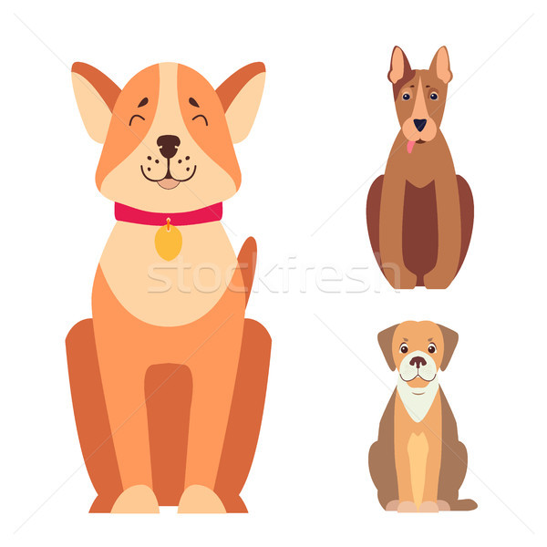 Cute chiens cartoon vecteurs Photo stock © robuart