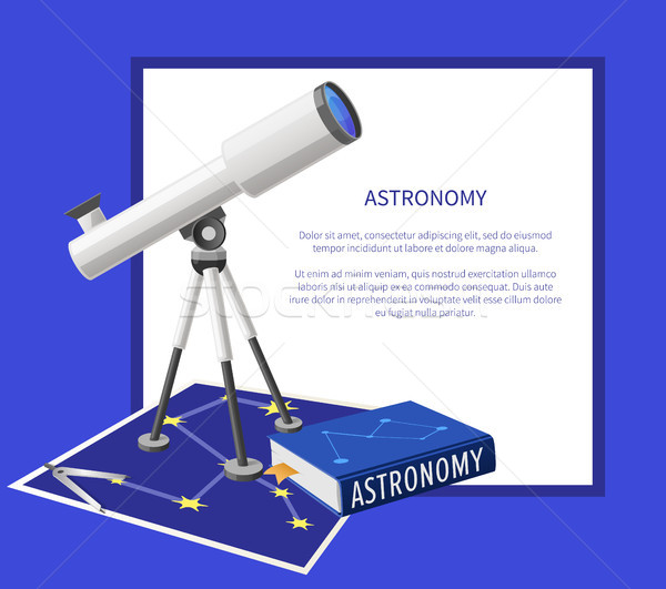 Astronomy Banner with Frame Place for Text Vector Stock photo © robuart