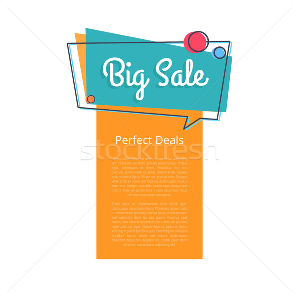 Big Sale Perfect Deals Promotional Banner Text Stock photo © robuart