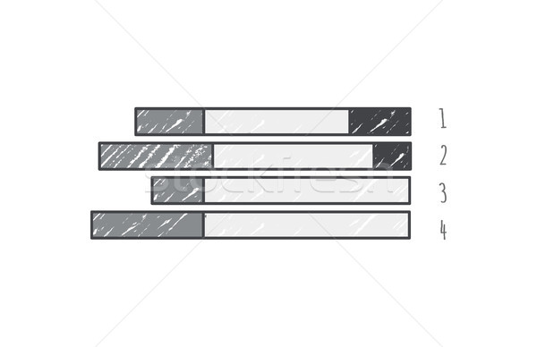 Drawn Graphic Grey Lines on Vector Illustration Stock photo © robuart