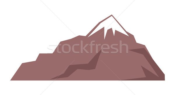 Rocky Mountain Isolated Illustration on White Stock photo © robuart