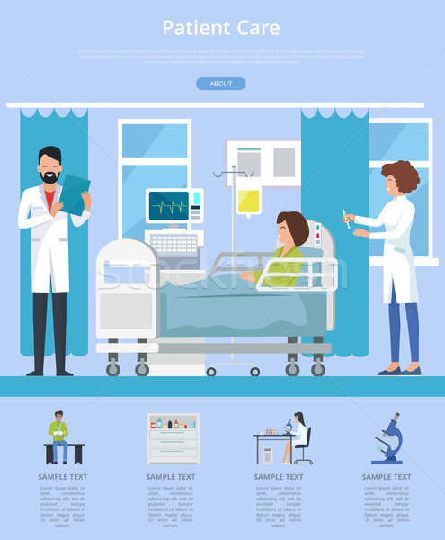 Patient Care Description Vector Illustration Stock photo © robuart