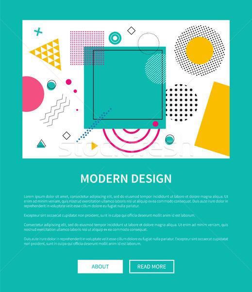 Modern terv háló poszter gombok vektor Stock fotó © robuart