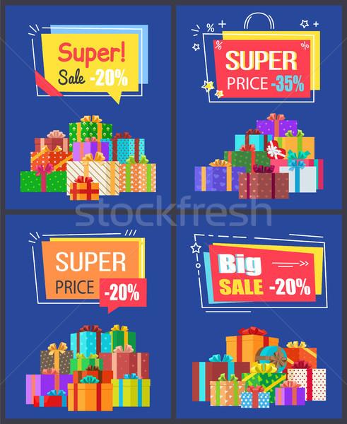 Super sale best prices discounts Premium Labels Stock photo © robuart