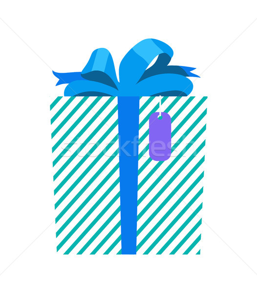 Gift with Wrapping and Ribbon Vector Illustration Stock photo © robuart