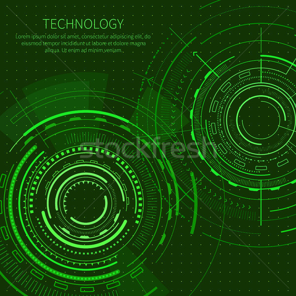 Technology Poster with Text Vector Illustration Stock photo © robuart