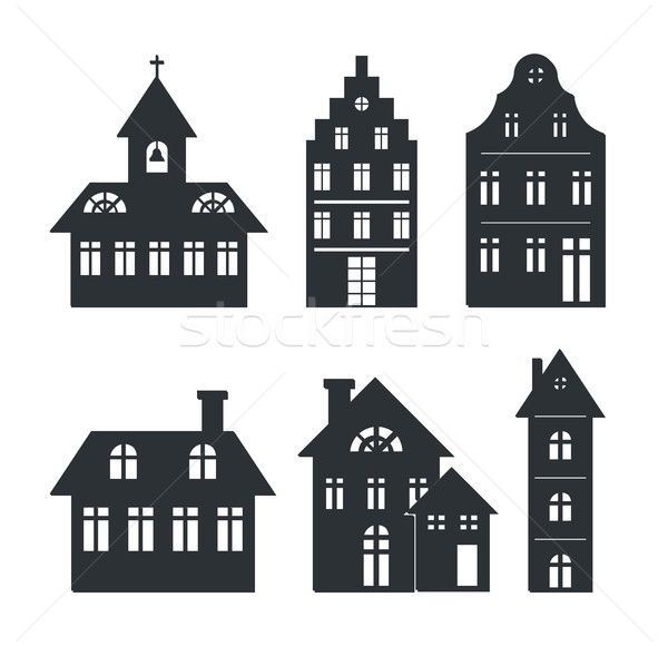 Set of Silhouettes of Building Vector Illustration Stock photo © robuart