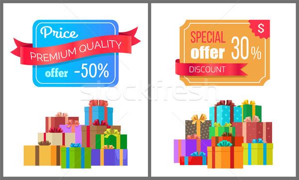 Preţ premiu calitate oferi special exclusiv Imagine de stoc © robuart
